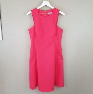 Calvin Klein Pink Sleeveless Fit Flare Dress 8